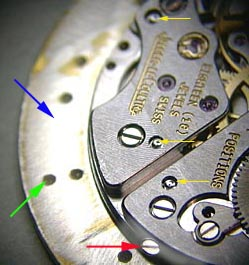 Movement on dial