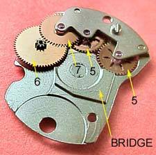 Automatic winding bridge